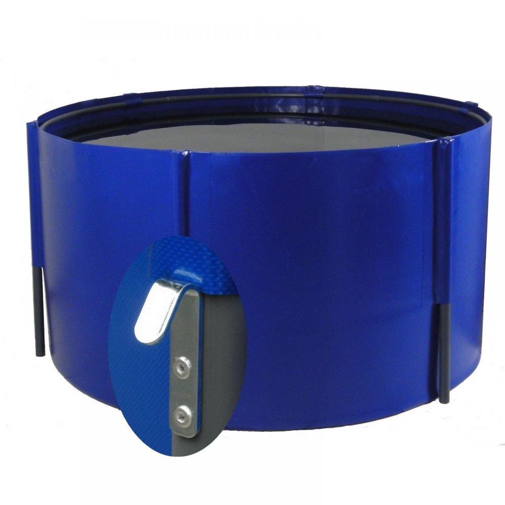 Folding Basin 3900 Litres bluee 225 x 100 cm with Ground Hooks, Koibecken