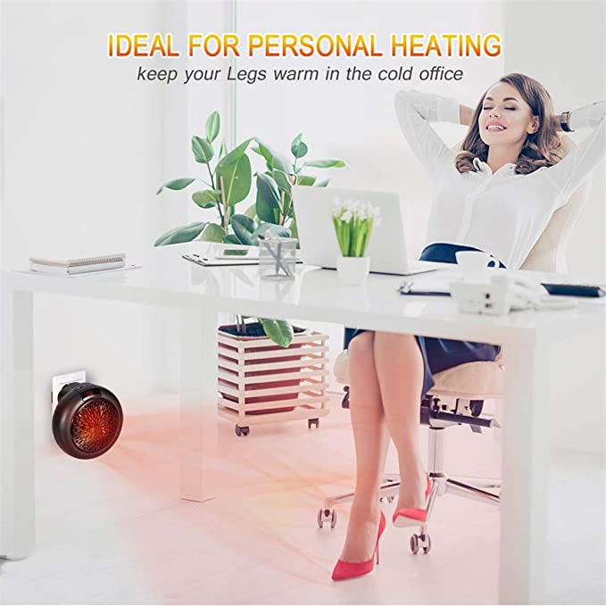 Mini Heater Estufa Eléctrica Portátil de Bajo Consumo 1000 W con Enchufe Eléctrico, Ajustable de 15 a 32 °, Ideal para Hogar Oficina BañO (Negro): ...