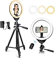 UBeesize 10'' LED Ring Light with Stand and Phone Holder, Selfie Halo Light for Photography/Makeup/Vlogging/Live Streaming,