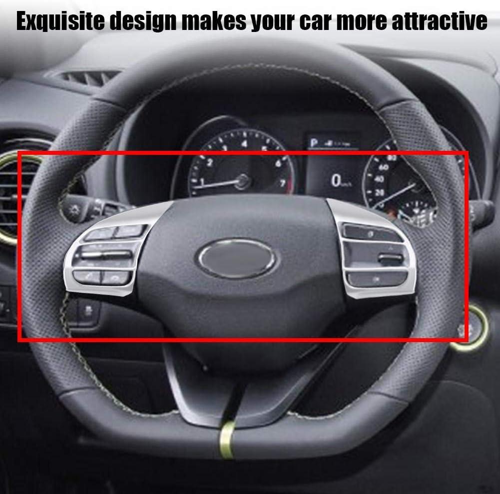 Garniture de volant de voiture cadre de couverture de volant de voiture garniture garniture de volant ins/érer autocollant pour Encino Kauai Kona 2017-2020 SUV Fibre de carbone