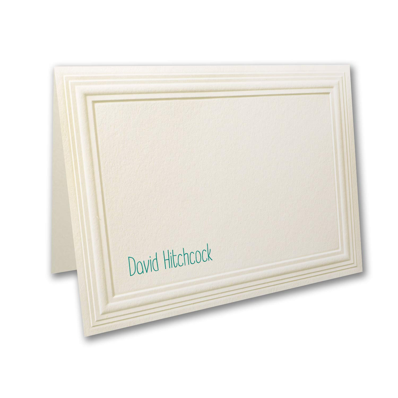 300pk Multi Panel - Small Note Folder - Ecru-Shop All Stationery