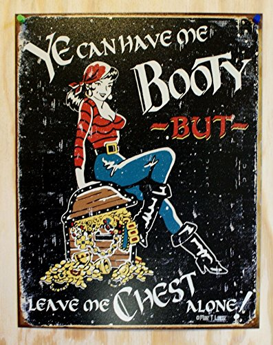 Halloween Sexy Pirate Retro Tin Sign