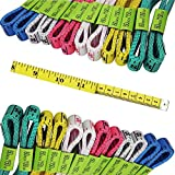 FF Elaine 24 Pcs Double-Scale 60-Inch/150cm Soft Tape Measure Ruler Bulk for Sewing Tailor Cloth - 6 Colors