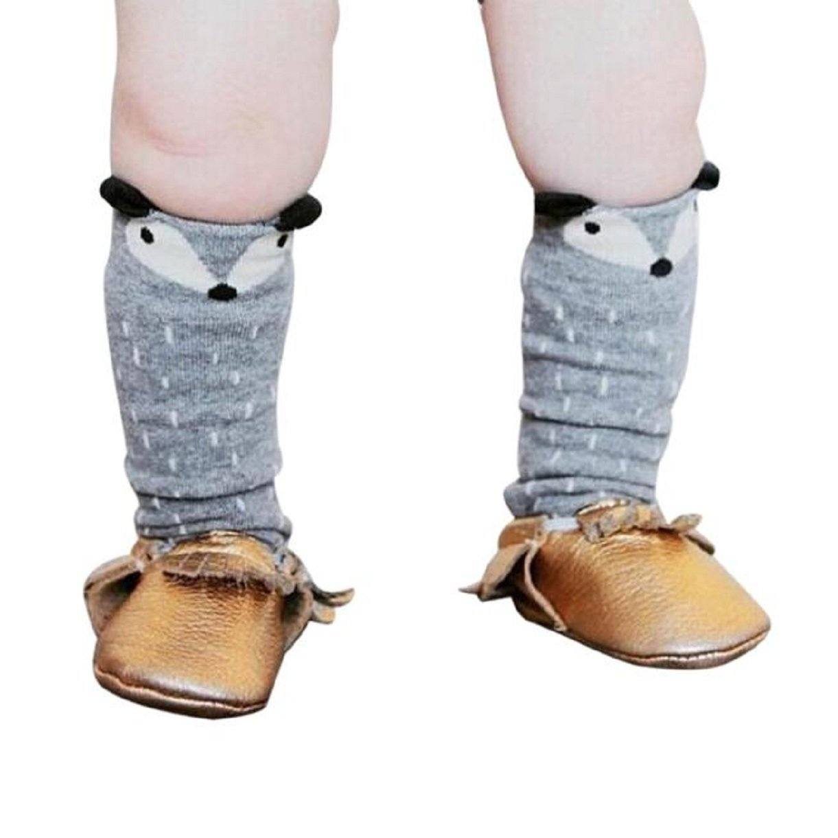 Lookatool® Toddlers Kids Girls Fox Pattern Knee High Socks Cute Stockings AK3-AT1-GL-M-X