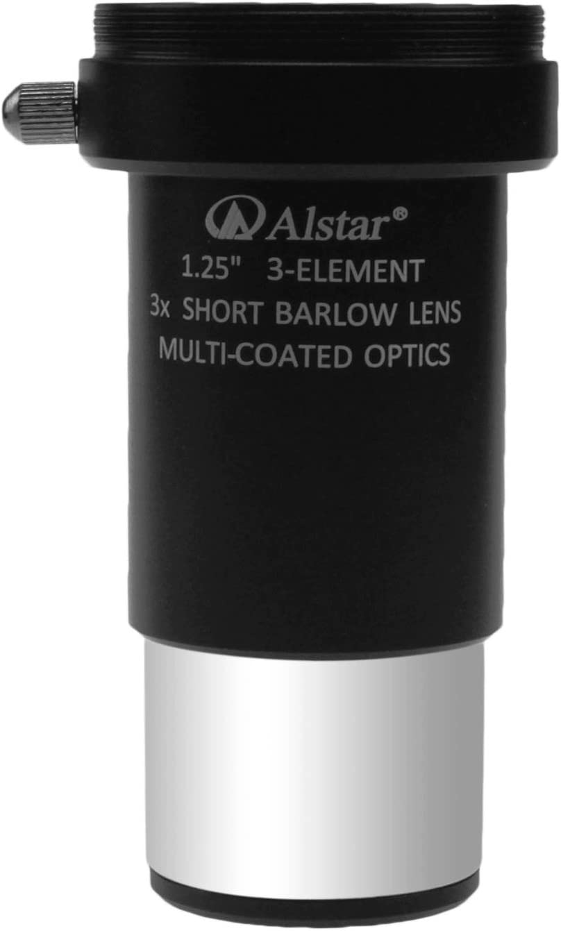 Alstar 1.25 3X Short Focus Barlow Lens for Telescope Eyepiece
