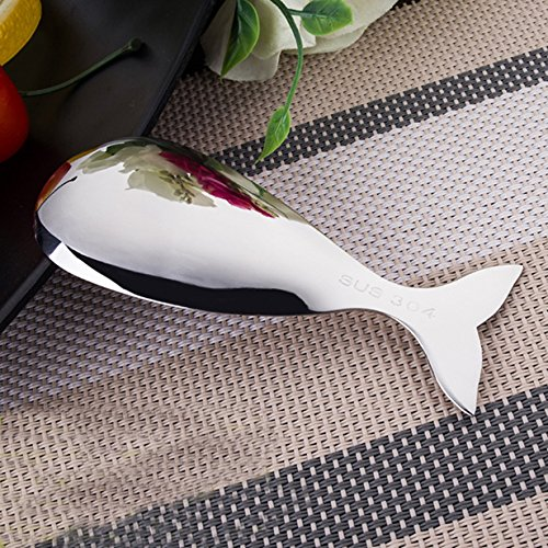 1 Set  Whale Shaped Stainless Steel Metal Spoons Professiona
