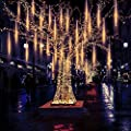 Ayunhao Meteor Shower Rain Lights Waterproof String for Wedding Party Christmas Xmas Decoration Tree Party Garden String Light Outdoor 20 Inches 10 Tube 540 LEDs Lamp Beads