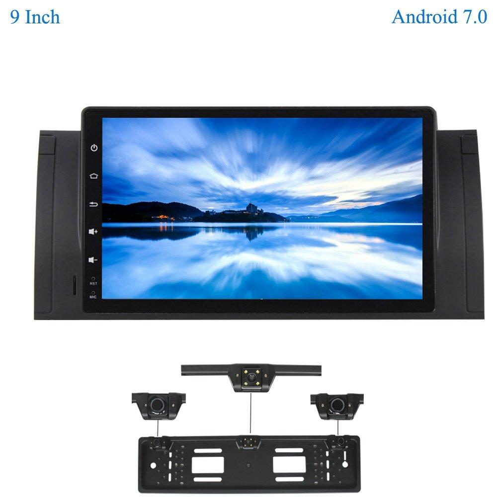 XISEDO Android 7.1 Autoradio Voiture Radio 9 Pouces Car Radio 1 Din Système de Navigation GPS Stéréo de Voiture avec 1024 * 600 Écran Tactile pour BMW 5-E39/BMW X5-E53