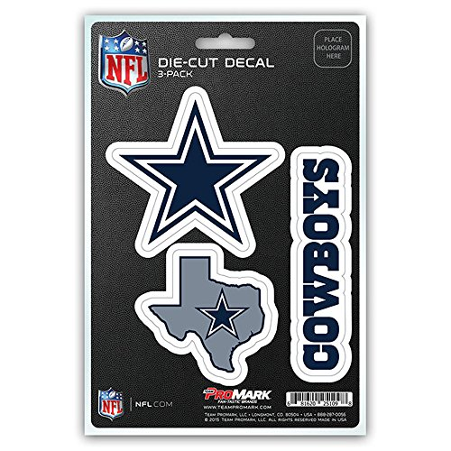 (NFL Dallas Cowboys Team Decal, 3-Pack)
