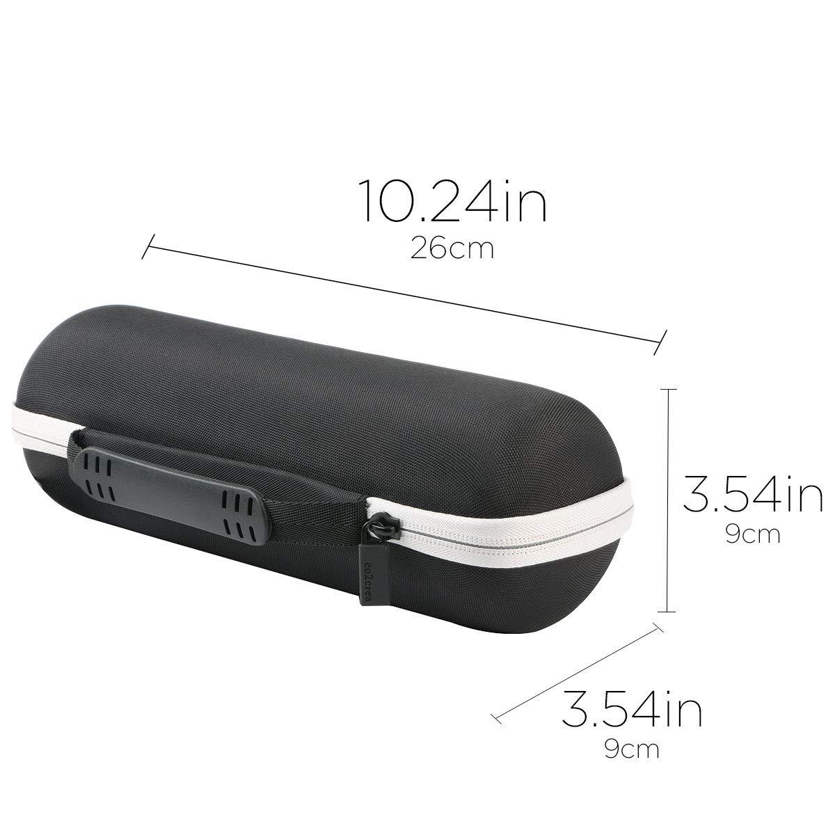 Black Case + Inside Blue co2crea Hard Travel Case Replacement for JBL FLIP 5 Waterproof Portable Bluetooth Speaker