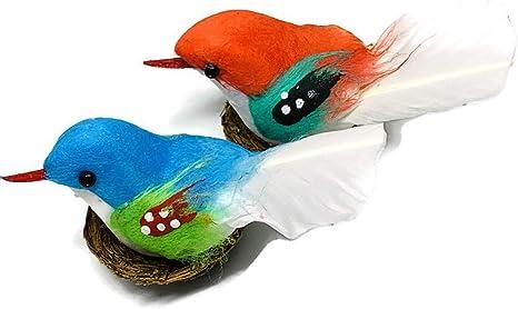 6pcs Mini Clip On Birds Parrots Garden Animal Party Arts Craft Home Decor 8C