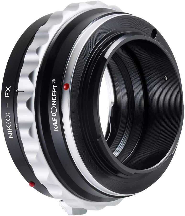 K/&F Concept Camera Lens Adapter Ring for Nikon G AF-S Mount Lens to Fujifilm Fuji FX X-Pro1 X-M1 X-A1 X-E1 Adapter