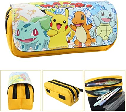 Estuche Escolar dos compartimentos amarillo Pikachu Pokemon Go: Amazon.es: Oficina y papelería
