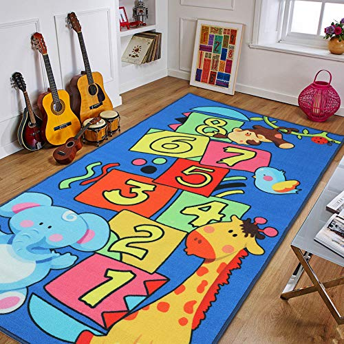 JACKSON Large 39''x70'' Hopscotch Game Rug for Playroom,Kid'