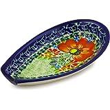 Polish Pottery Spoon Rest 5-inch Garden Meadow UNIKAT