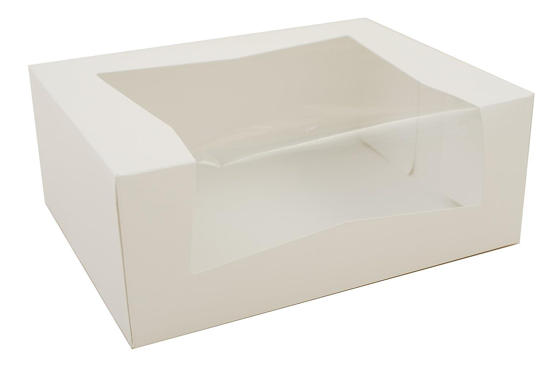 Southern Champion Tray 24313 Paperboard White Window Bakery Box, 9