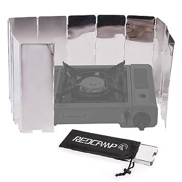 Amazon.com: REDCAMP Parabrisas plegable para estufa de ...