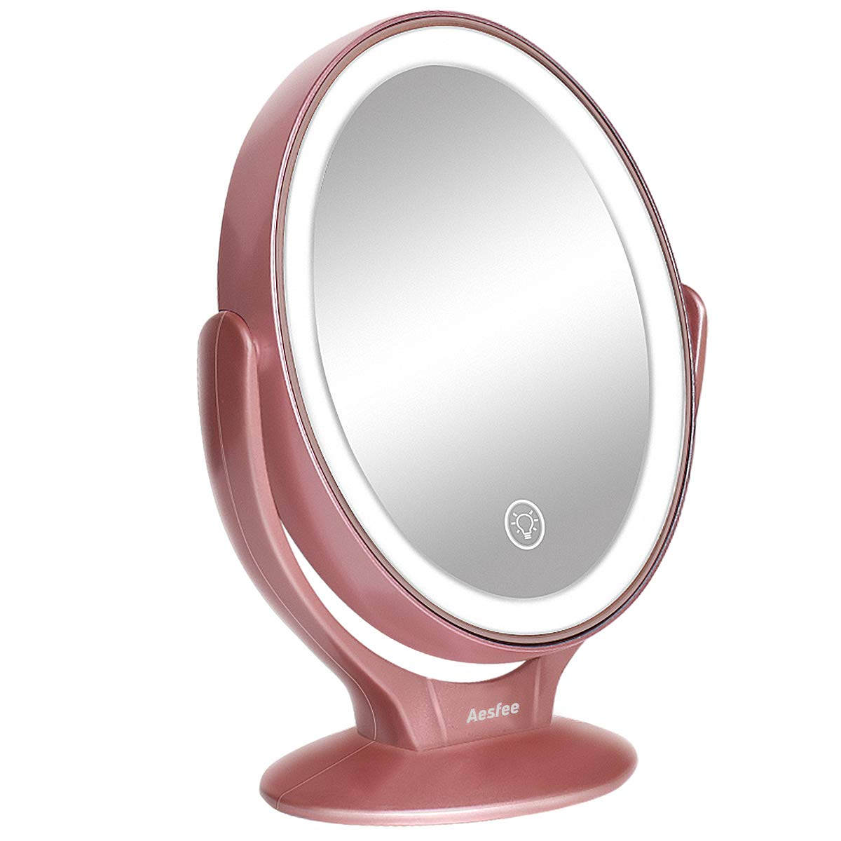 Aesfee 1x/7x Lighted Tabletop Makeup Mirror Reviews