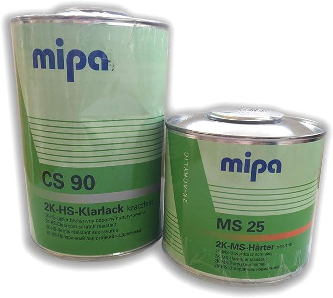 Mipa Set 2k Hs Klarlack Cs 90 2k Ms Härter Ms25 1 5l Auto