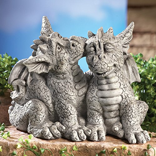 Lovely Dragon Couples In Love Outdoor Yard Decor By Ct Discount Store (Garden Statue Couple)