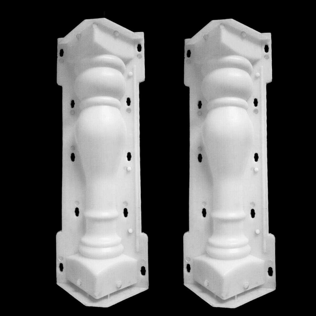 Luntus 60X14 Cm Colonne Romaine Moule Balcon Jardin Piscine Cl?Ture Ciment Garde-Corps PlaTre B/éTon Moule Colonne Moule Garde-Corps BaTiment