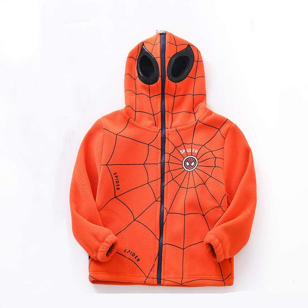 New Baby Toddler Boys spring winter zipper Hooded Outerwear Jacket Spiderman