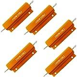 Comidox Set of 5 100W Watt Shell Power Aluminum Housed Case Wirewound Resistor 10R Ohm