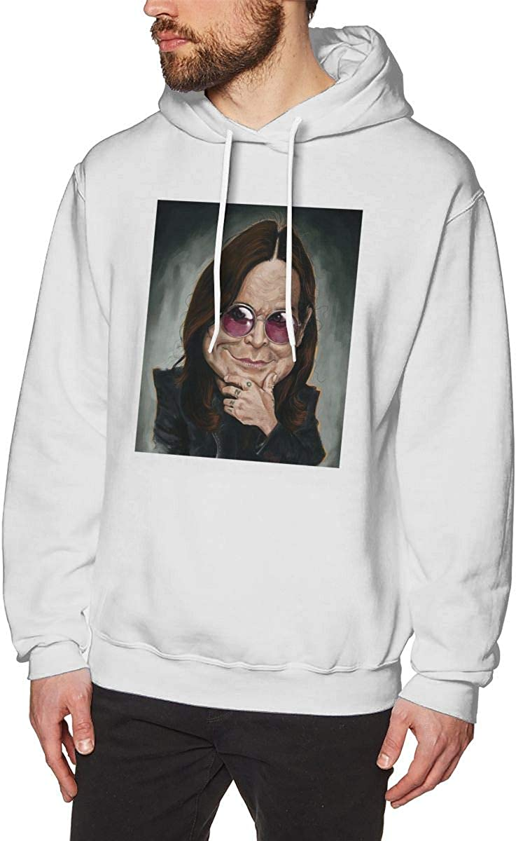 HelplesS Ozzy Osbourne Cool Mens Hat and Pocketless Sweater White S