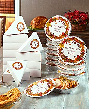 The Lakeside Collection 24-Pc. Thanksgiving Leftover Box Sets -