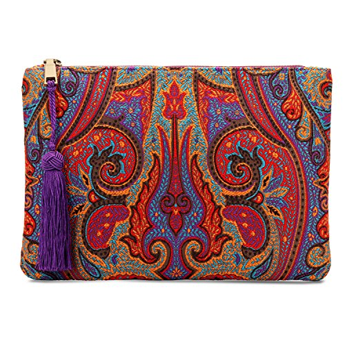 Otto Designer Women's Bohemian Clutch Purse - Multiple Slots Money, Cards, Smartphone - Ultra Slim by OTTO Leather