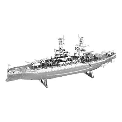 Fascinations Metal Earth 3D Laser Cut Model Military USS Arizona Ship: Toys & Games