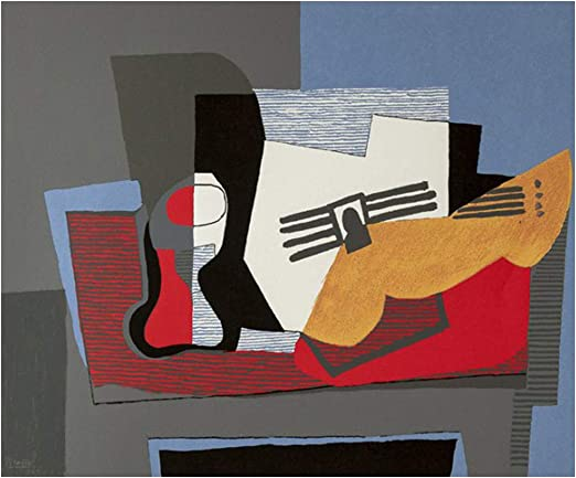 JH Lacrocon Pinturas a Mano Bodegón En Guitarra 1922 de Pablo ...