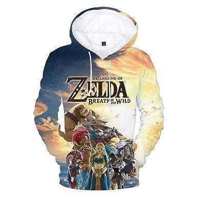 The Legend of Zelda 3D Estampar Abrigo con Capucha Sudaderas Hoodie El Nuevo Caída Invierno Outwear Sudaderas con Capucha para Novio Y Novia: Amazon.es: ...