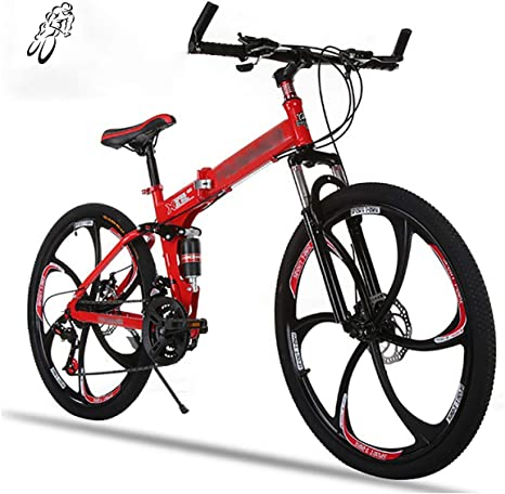 STRTG Unisex MontañA Bicicleta Plegable, Adultos Plegado Bike, Bicicleta Plegable Urbana,Sillin Confort, 21 Velocidades 26 Pulgadas Unisex portátil Urbana Bicicleta: Amazon.es: Deportes y aire libre