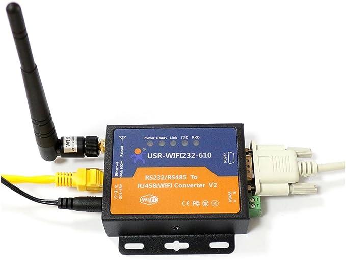 Q-BAIHE RS232 / RS485 a Wifi 802.11 B / G / N y convertidor ...