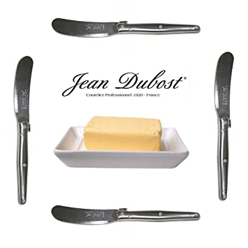 French Laguiole Dubost - Set of 4 Spreaders/Butter Knives - ALL STAINLESS STEEL -  sc 1 st  Amazon.com & Amazon.com | French Laguiole Dubost - Set of 4 Spreaders/Butter ...