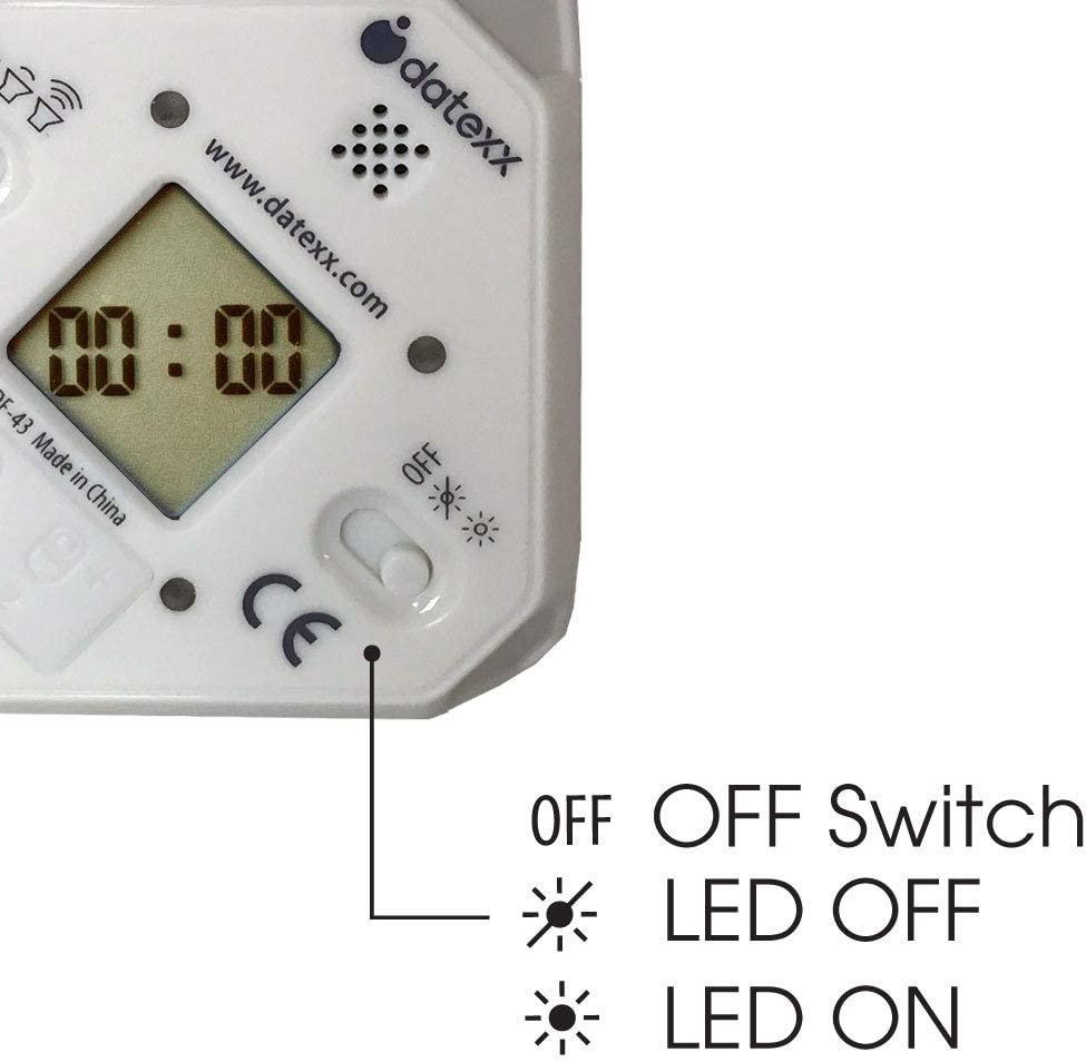 Black - 2,10,20,45 min Available in 8 Colors and Countdown Settings TimeCube Plus Preset Timer with 4 LED Light Alarm for Time Management