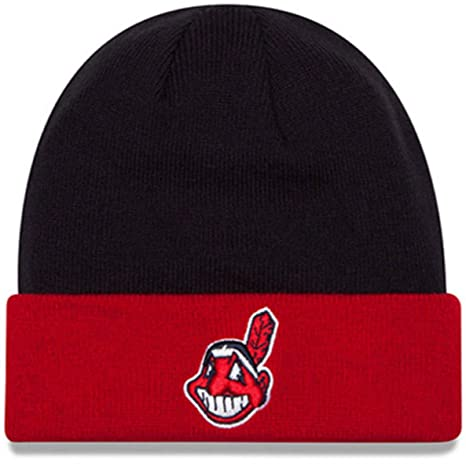 Amazon.com  Authentic Cleveland Indians Basic Cuff Knit Beanie New Era   Sports   Outdoors 7515609120b