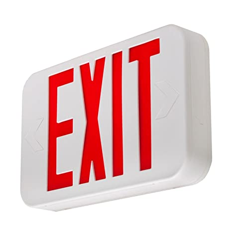 lfi lights ul certified hardwired red led exit sign modern
