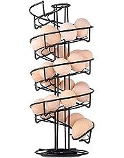 Toplife Spiral Design Metal Egg Skelter Dispenser Rack,Storage Display Rack