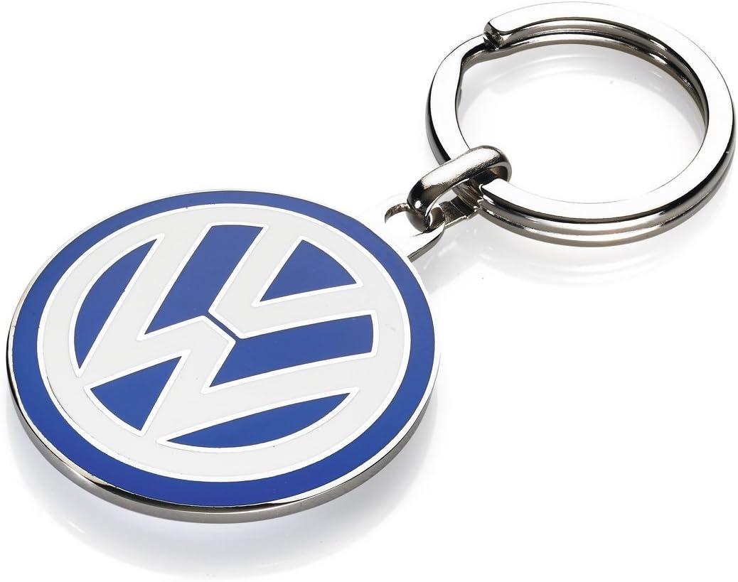 Volkswagen 000087010c Hochwertiger Schlüsselanhänger Emaille Vw Logo Durchmesser 37mm Blau Ø Ca 37 Mm Auto