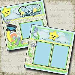 New Year Baby Boy - Premade Scrapbook Pages - Ez Layout 2735