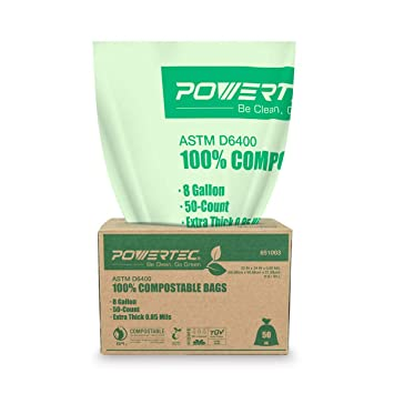 Amazon.com: Bolsas de compost POWERTEC ecológicas y ...