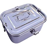 """Stainless Steel Rectangular Kimchi Food Storage Container (5L / 168oz / 10.6"""")"""