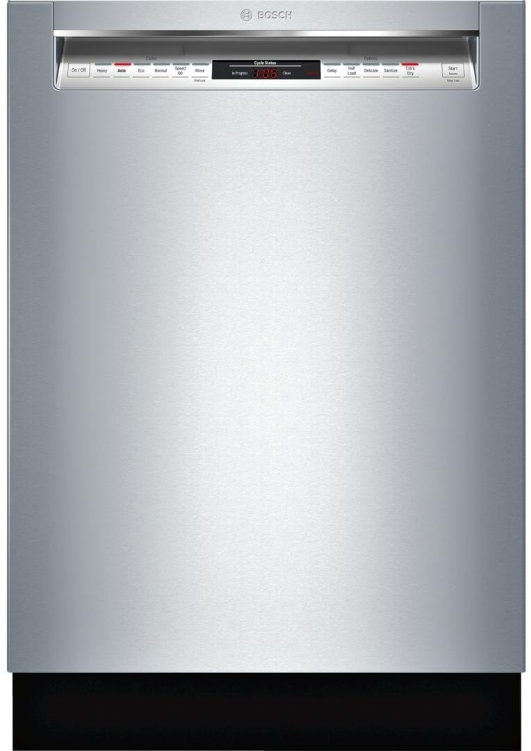 """Bosch SHEM78W55N 24"""" 800 Series Built In Full Console Dishwasher with 6 Wash Cycles, in Stainless Steel"""