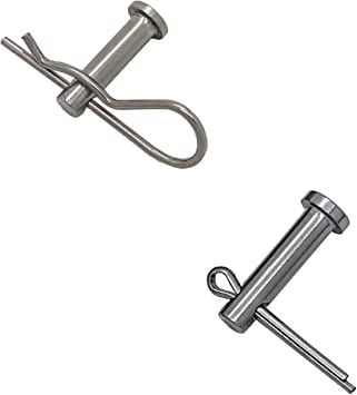 5 x Clevis Pins Imperial 5//16 x 1 Flat Headed Fasteners for Retaining Clips