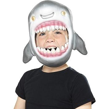 Amakando Careta Niño Marrajo | Máscara Infantil de Tiburón | Mascarilla Pez Depredador | Antifaz Predador
