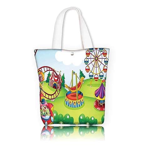 27d02330c4eb Amazon.com: Women's Canvas Tote Bag —W17.7 x H14 x D7 INCH/work ...