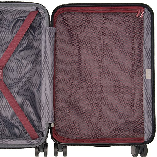 """Delsey Paris Alexis Luggage Set 3 Piece Lightweight Hardside Spinner Suitcase (21""""/25""""/29"""") (Navy)"""