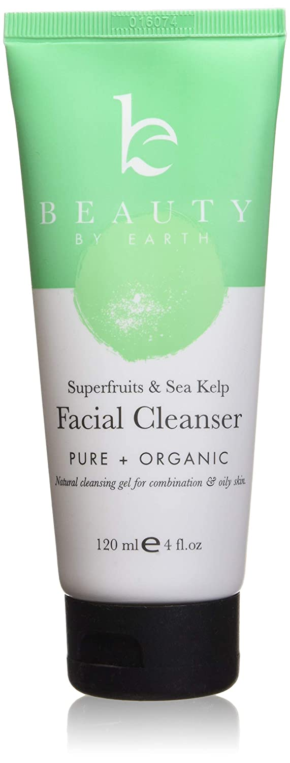 Facial Cleanser; Gel Face Wash with Organic and Natural Anti-Aging Formula; Restorative Gentle Soap for Anti Breakout, Deep Pore Cleansing; Normal, Combo or Acne Prone Skin, Daily Use Men and Women Beauty by Earth